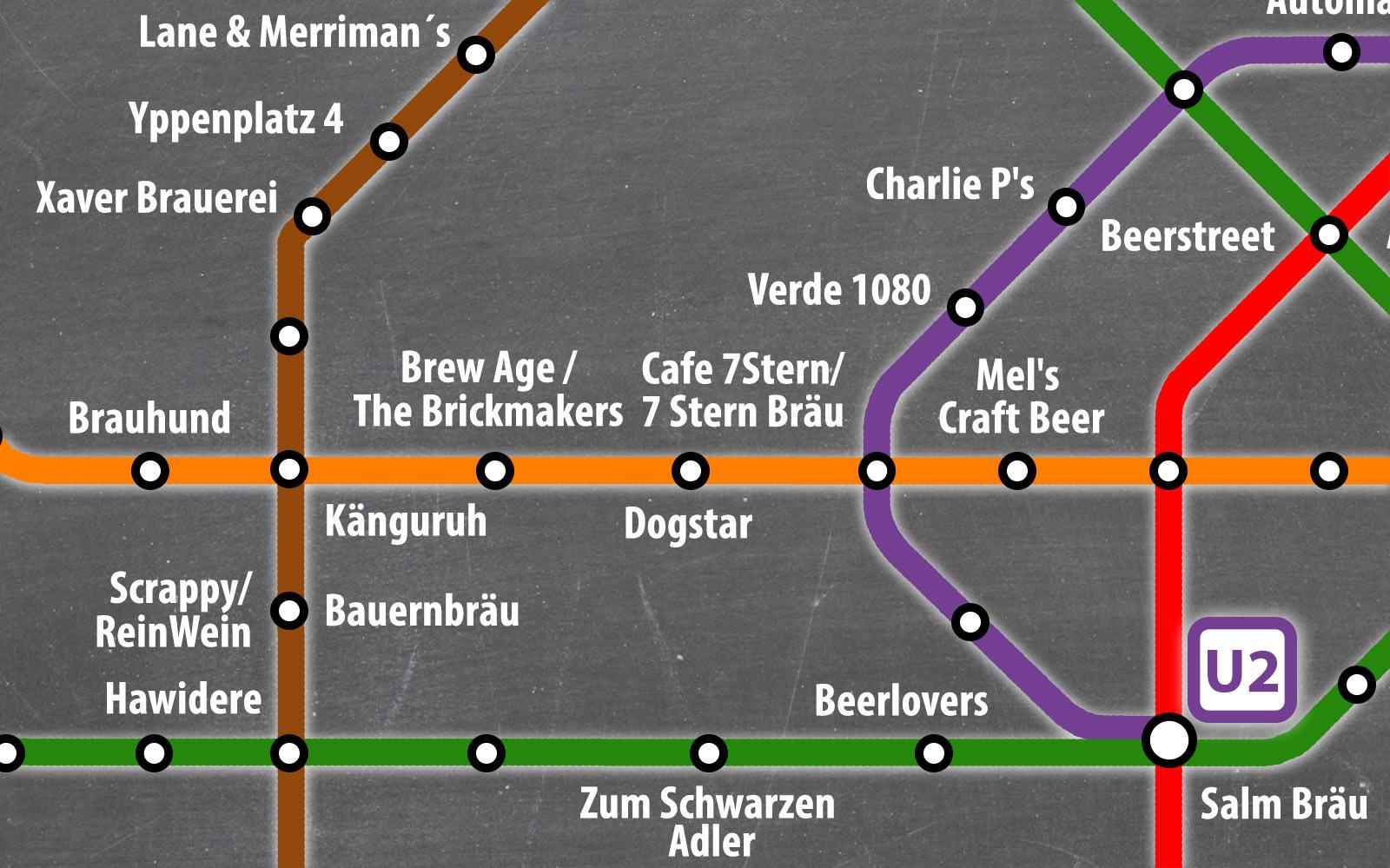 Craft-Bahn-Plan – Die Wien Survival Map für Craftbeer Freunde