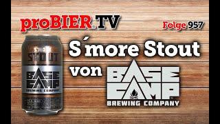 S´more Stout von BaseCamp – DIY Marshmallow Stout   proBIER.TV – Craft Beer Review #957 [4K]