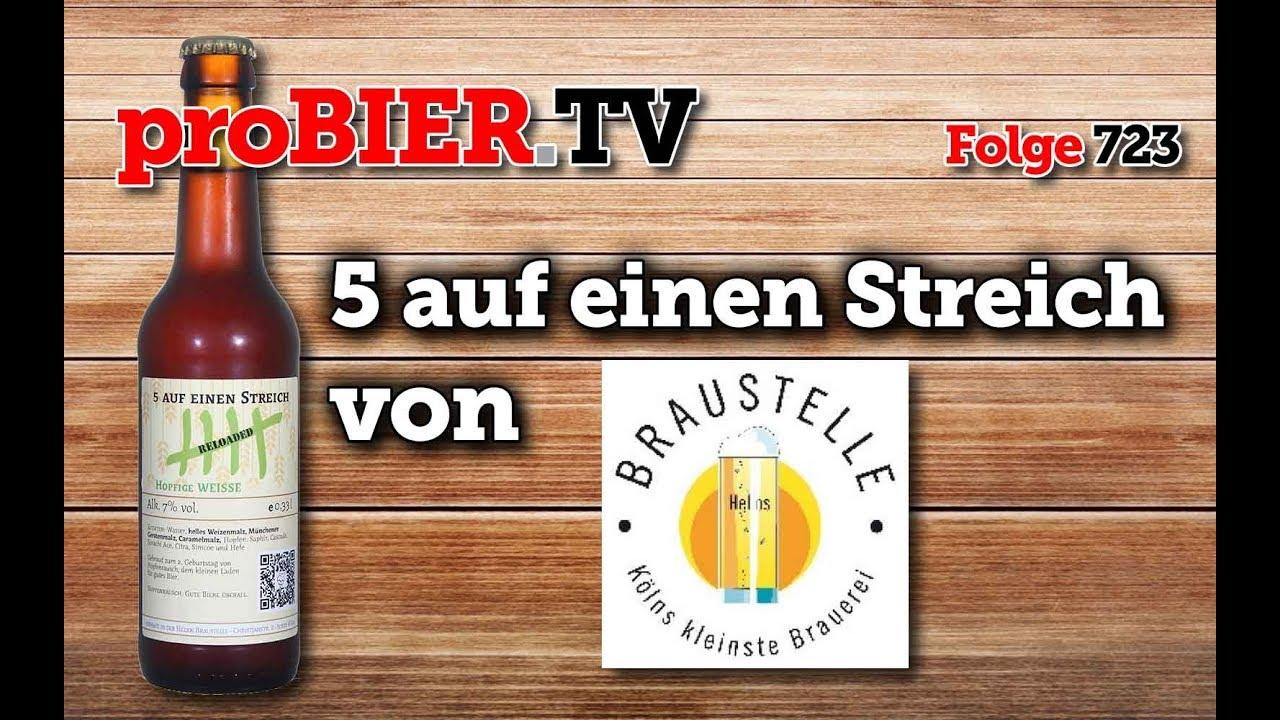 5 auf einen Streich von Braustelle | proBIER.TV – Craft Beer Review #723 [4K]