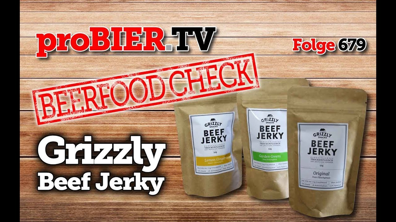 BEERFOOD CHECK- Grizzly Snacks – Beef Jerky