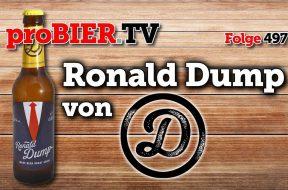 Bier gegen Populismus: Ronald Dump von Dump-Beer