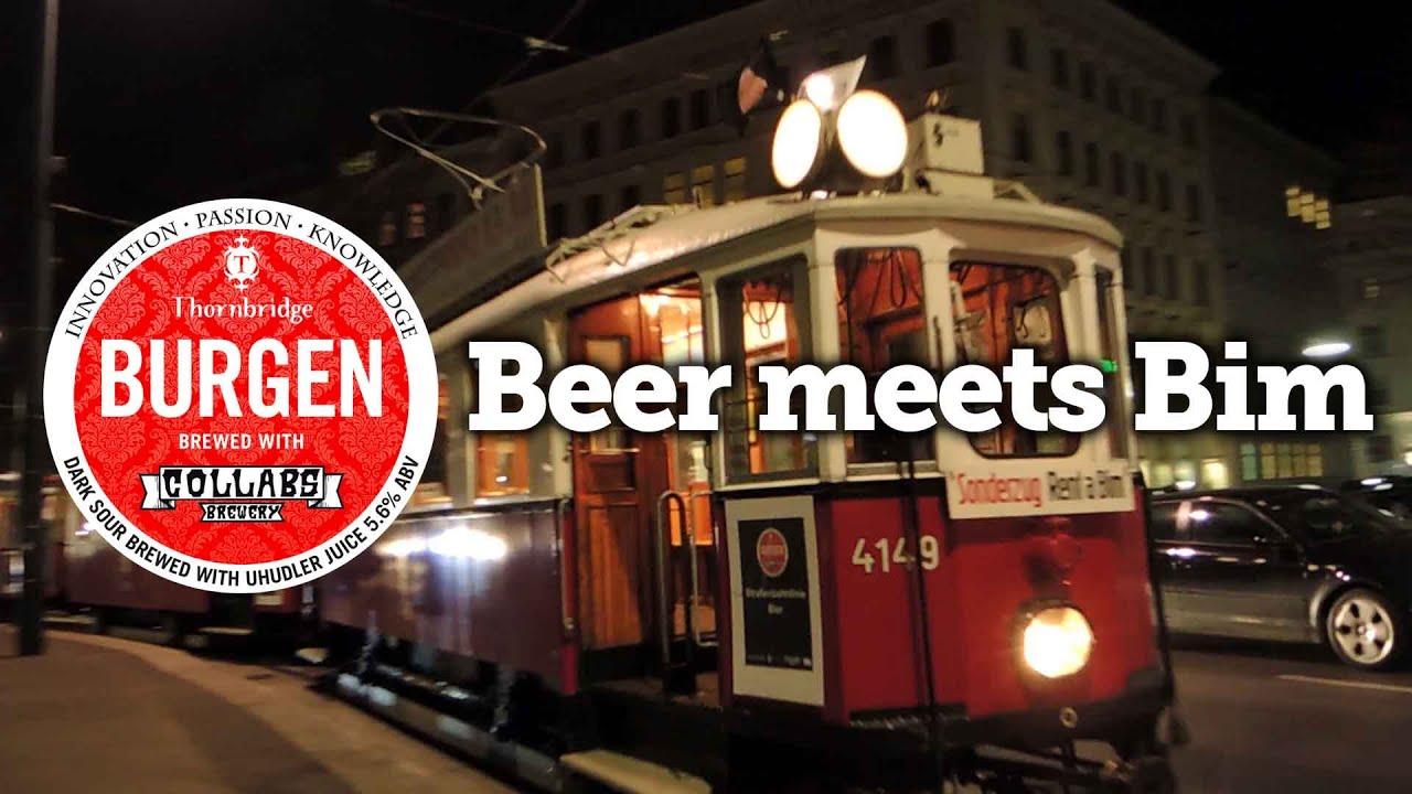 """Die """"Straßenbahnlinie Bier"""" auf der Wiener Ringstraße"""