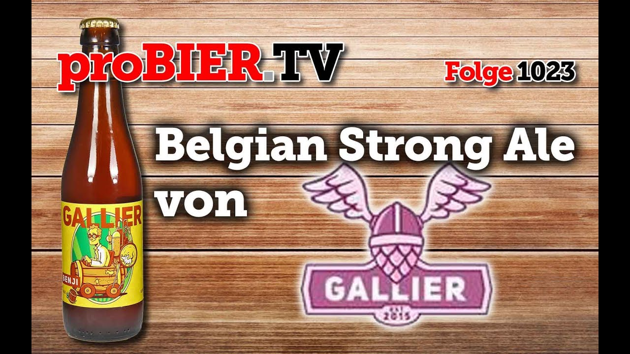 Dr.Benji Belgian Strong Ale von Gallier Brau | proBIER.TV – Craft Beer Review #1023 [4K]