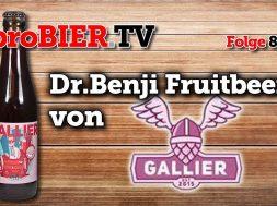 Dr.Benji Fruitbeer BA von Der Gallier | proBIER.TV – Craft Beer Review #850 [4K]