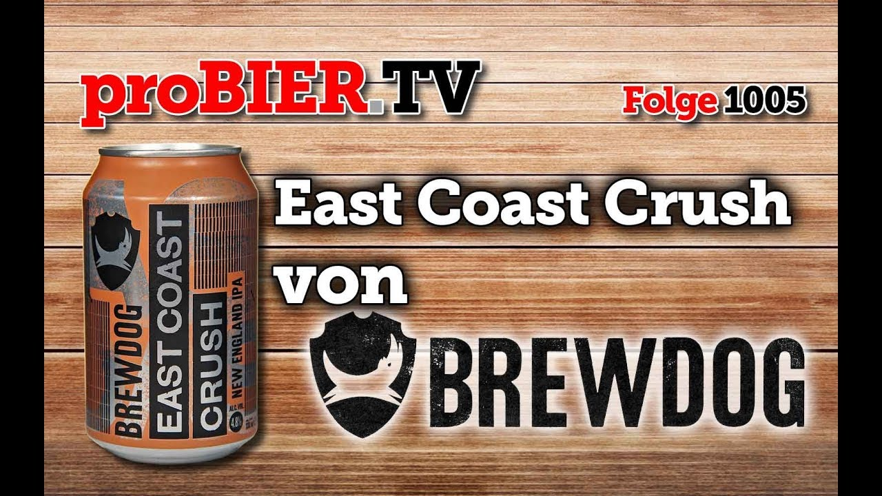 East Coast Crush von Brewdog | proBIER.TV – Craft Beer Review #1005 [4K]