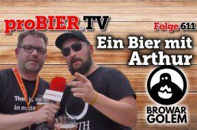Ein Bier mit Arthur von Browar Golem