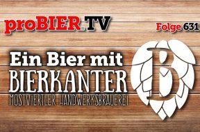 Ein Bier mit Bierkanter am Craft Bier Fest Wien