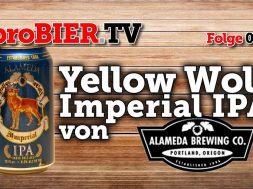 Gelber Wolf aus der Dose – Imperial IPA von Alameda