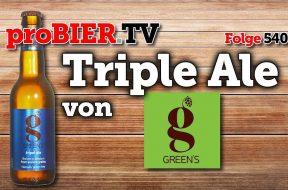 Glutenfreies Tripel Ale von Green´s