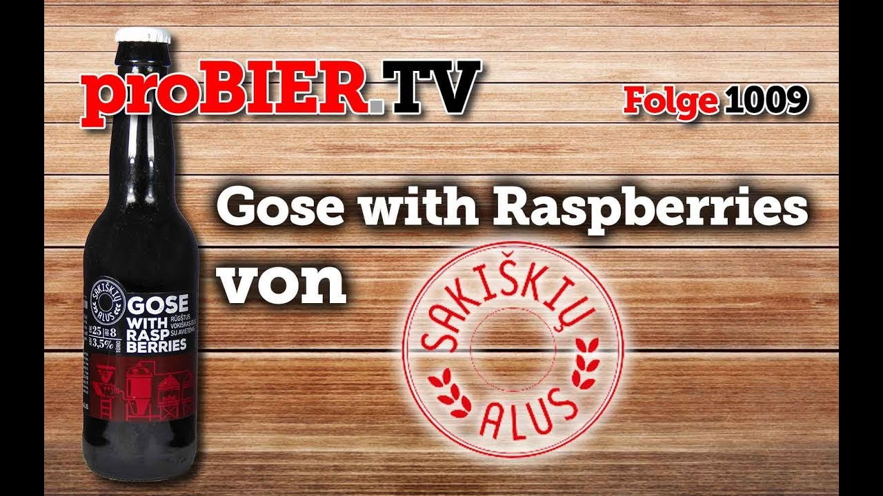 Gose with Raspberries from Sakiskiu Ales | proBIER.TV – Craft Beer Review #1009 [4K]