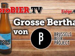 Grosse Bertha auf Reise von München nach Brüssel