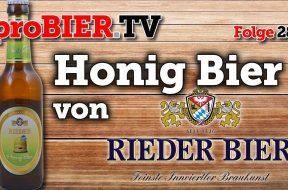 Honig-Bier, goldenes Bier aus der Brauerei Ried