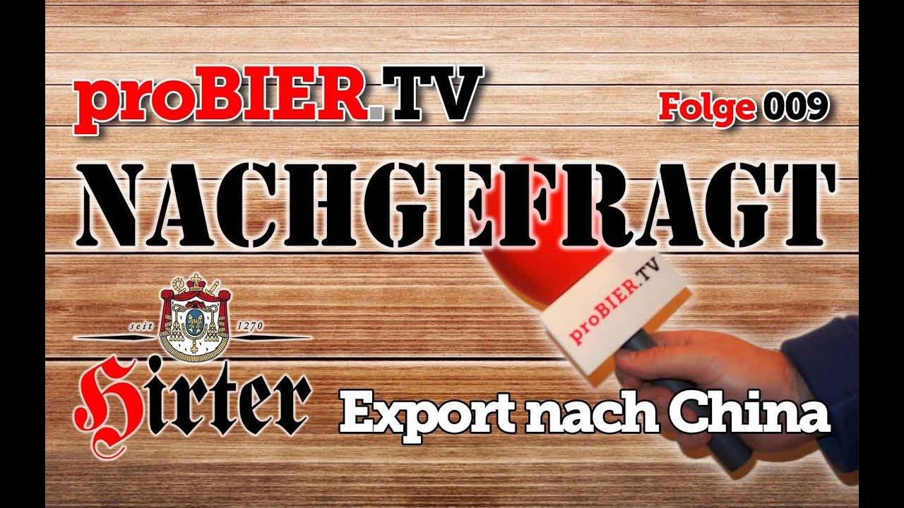 proBIER.TV Nachgefragt: Hirter Bier für China