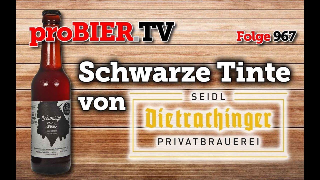 Schwarze Tinte von Dietrachinger Brauerei | proBIER.TV – Craft Beer Review #967 [4K]