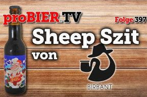 Stout mit Schaafschei**e geräuchert – Sheep Szit von Browar Birbant